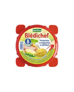 BLEDICHEF Printanière de légumes et jambon 200 g dès 8 mois