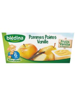 Coupelle de fruits - Pomme, poire et vanille