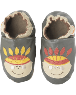 Chaussons cuir souple Indiens