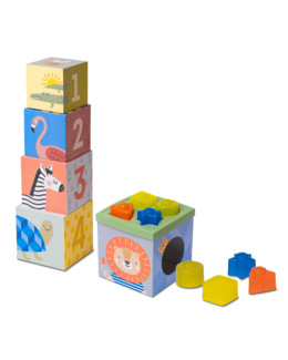 Cubes gigognes Boîtes à formes 3 en 1