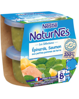 Naturnès - Épinards, saumon aux petites pommes de terres