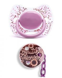 Set Sucette Premium +4 mois silicone + attache-sucette Couture