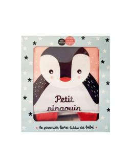 Livre tissu Petit pingouin et ses amis
