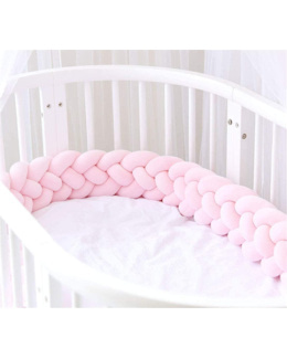 Tour de lit bébé tresse