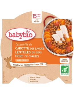Cassolette de Carotte Lentilles du Gers Porc de Corrèze au Cumin