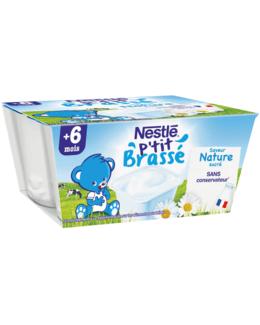 P'tit Brassé Nature Sans Sucres Ajoutés (4x100g)