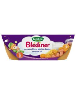 Blediner Bols duo de carottes et patates douces semoule lait