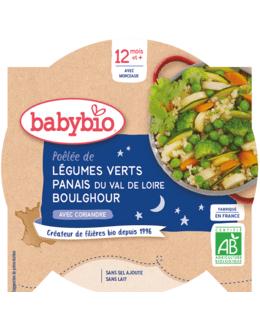 Bonne Nuit Poêlée de Légumes verts Panais Boulghour à la Coriandre