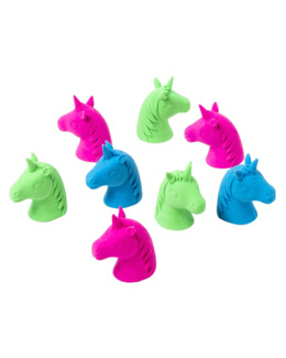 8 gommes licornes