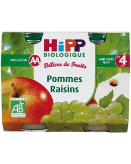 Pommes Raisins - 2 pots x 190g - 4 mois