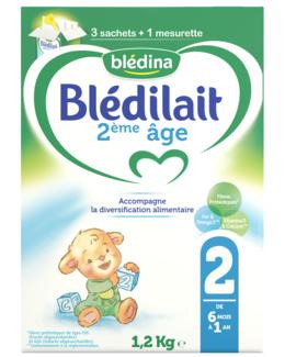 Lait Blédilait 2ème âge bag in box