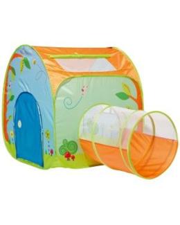Cabane pop-up avec tunnel