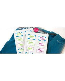 Etiquettes personnalisées autocollantes  vêtements