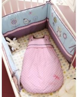 Tour de lit bebe brode Libellule