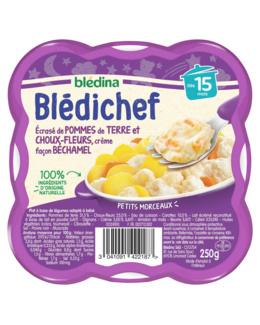 BLEDICHEF - Écrasé de pommes de terre et choux-fleurs, crème façon béchamel