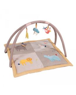 Tapis d'éveil avec arche d'activités Les Papoums