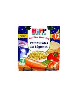 Menu Bonne Nuit Petites Pâtes aux Légumes - 2 pots x 250g - 12 mois