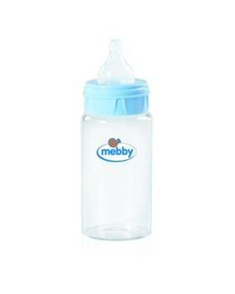 Biberon verre à valve anti-colique et tétine en silicone, 270 ml