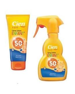 Crème solaire hydratante pour enfants SPF 50 Cien Sun