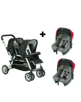 Duo Poussette double Twin Two + Coque strata