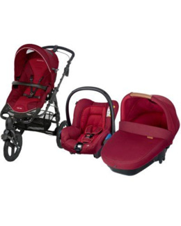 Trio High Trek avec siège auto Citi et nacelle