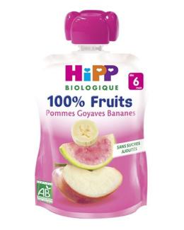 Gourdes unitaires 100% Fruits - 90g - 4/6 mois