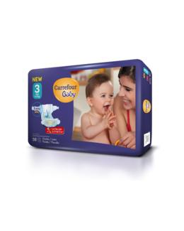 Couches bébé 4-9 kg Midi (x56)
