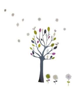 Sticker bebe arbre geant P tit nid