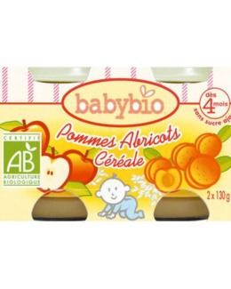 BIO Pommes Abricots Céréale dès 4 mois