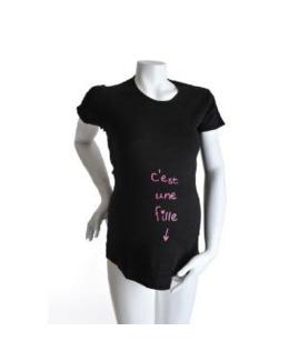 T-Shirt manches courtes 'c'est une fille'