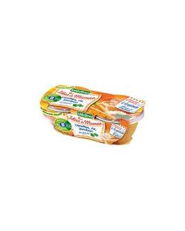 LES IDEES DE MAMAN Carotte riz jambon au persil 2x200 g dès 8 mois