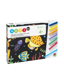 Atelier coloriage velours animaux sauvages
