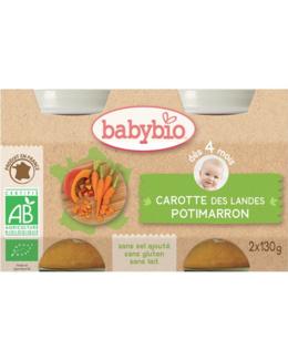 BIO Potimarron-Carottes 130 g dès 4 mois