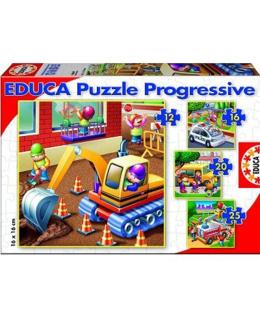 4 puzzles : Les véhicules