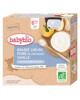 Brassé au Lait de Chèvre français - Poire de Provence Vanille