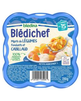 BLEDICHEF Mijoté de légumes fondants et cabillaud