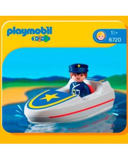 Playmobil 1.2.3 : Policier / Bateau