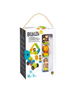 82 blocks à construire et 3 figurines jungle - Buildibul