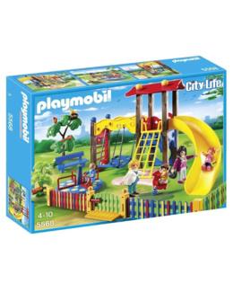 Playmobil City Life - Square pour enfants avec jeux