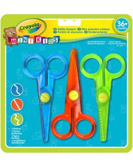 Mini Kids - Mes premiers ciseaux : 3 couleurs