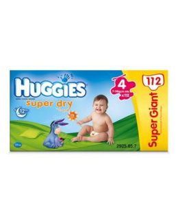HUGGIES Super-Dry T4 7 14 kg