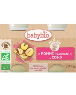 BIO Pommes Coings dès 4 mois