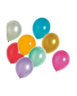 24 ballons métalliques nacrés