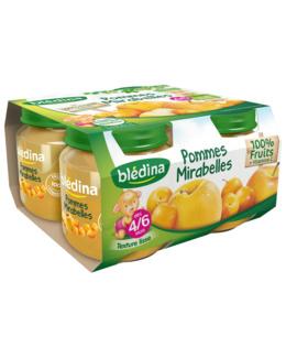 Pot Pommes Mirabelles 4x130g