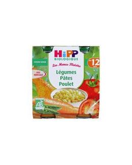 Légumes pâtes poulet - 2 pots x 250g - 12 mois