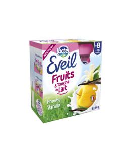 Gourdes Eveil Fruits et Touche de Lait – Pomme-Vanille