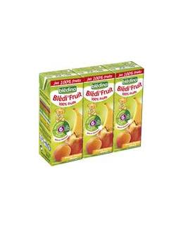 BLEDI FRUIT 100% Fruits pomme banane abricot 3 x 200 ml dès 6 mois