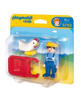 Playmobil 1.2.3 - Fermier avec brouette