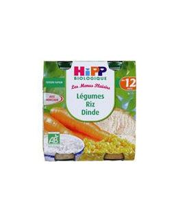 Légumes Riz Dinde 250g dès 12 mois