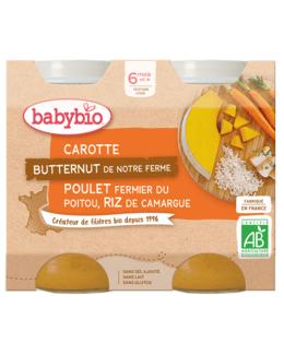 Carotte Butternut de notre ferme Poulet fermier du Poitou Riz de Camargue